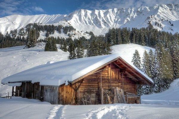 Belles images de paysages d'hiver