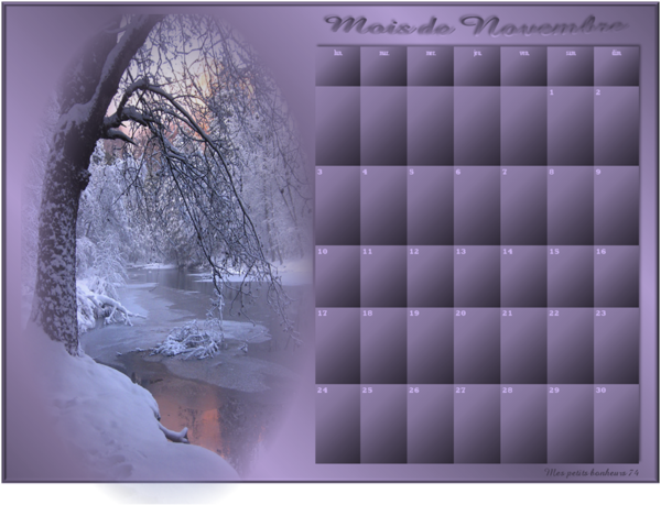 Mes calendriers 2014